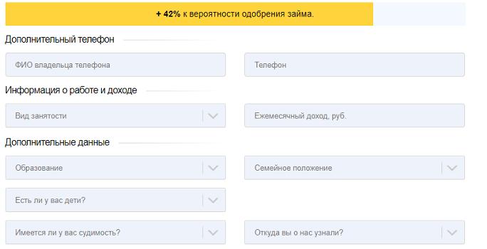 Как оформить заявку на заем в компании Webbankir?